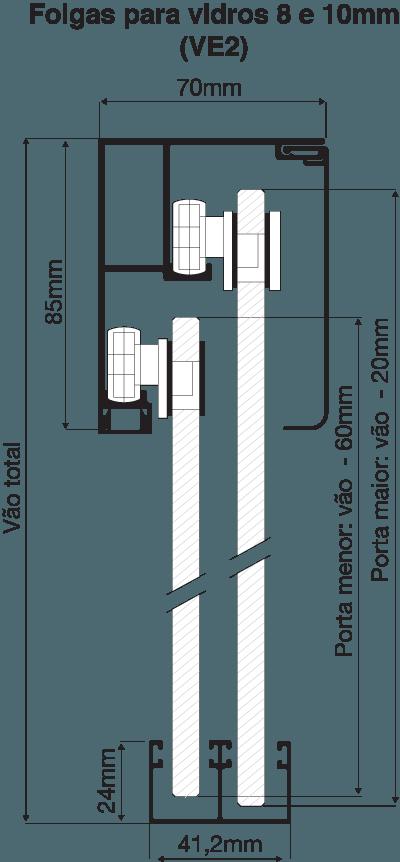 Folgas VE2 - 8 e 10mm