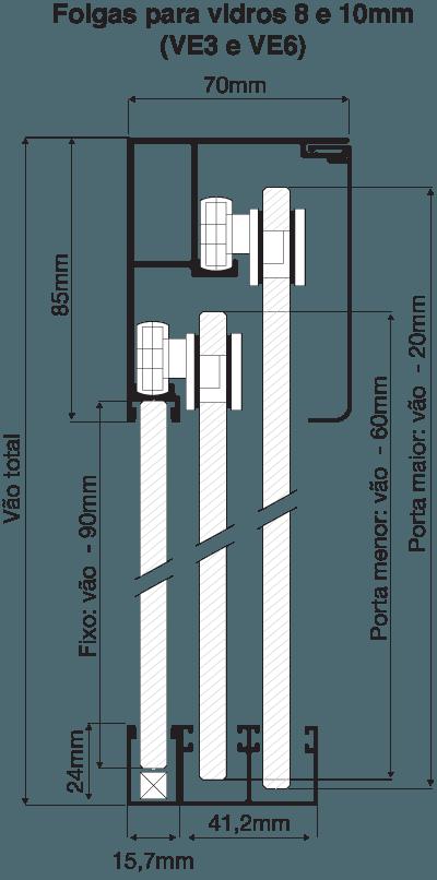 Folgas VE3 e VE6 - 8 e 10mm