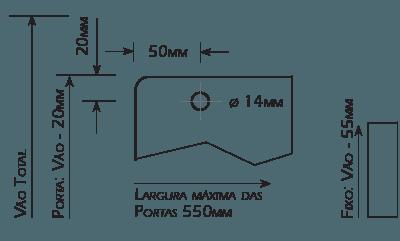 Furação para Roldanas Vidros de 8mm