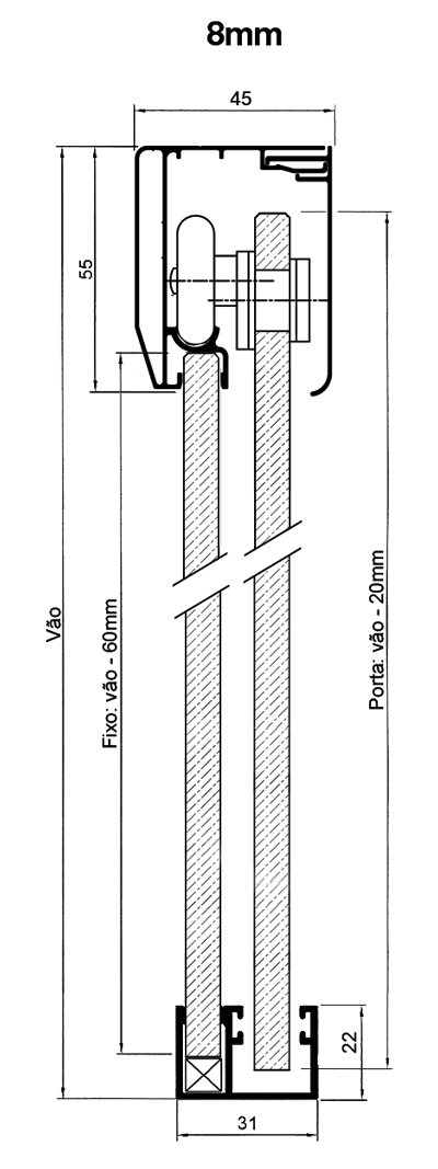 Kit Engenharia Folgas 8mm