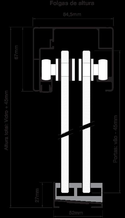 Folgas Kit Transfer Box 2 Portas