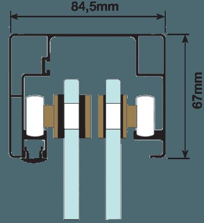 Dimensões Kit Box Transfer 2 Portas