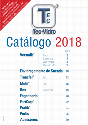 Catálogo Tec-Vidro 2018