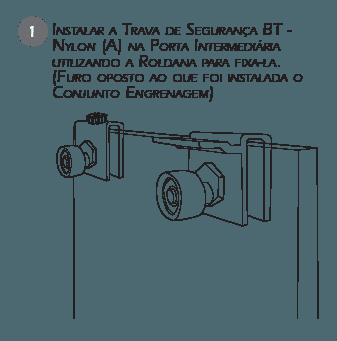 Montagem Sistema de Travas de Segurança BT3 passo 1