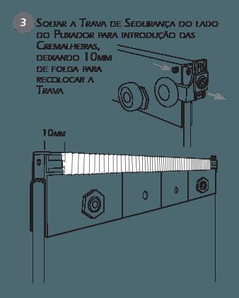 Montagem Sistema de Travas de Segurança BT3 passo 3