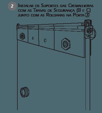 Montagem Sistema de Travas de Segurança BT3 passo 2
