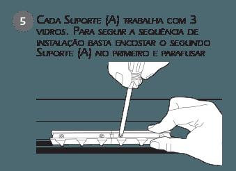 Montagem Contenção Sacada - passo 5