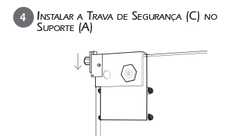 Montagem Trava de Segurança VE - Passo 4