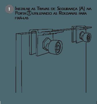 Montagem Trava de Segurança BT2 - Passo 1