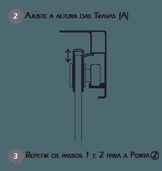 Montagem Trava de Segurança BT2 - Passo 2 e 3
