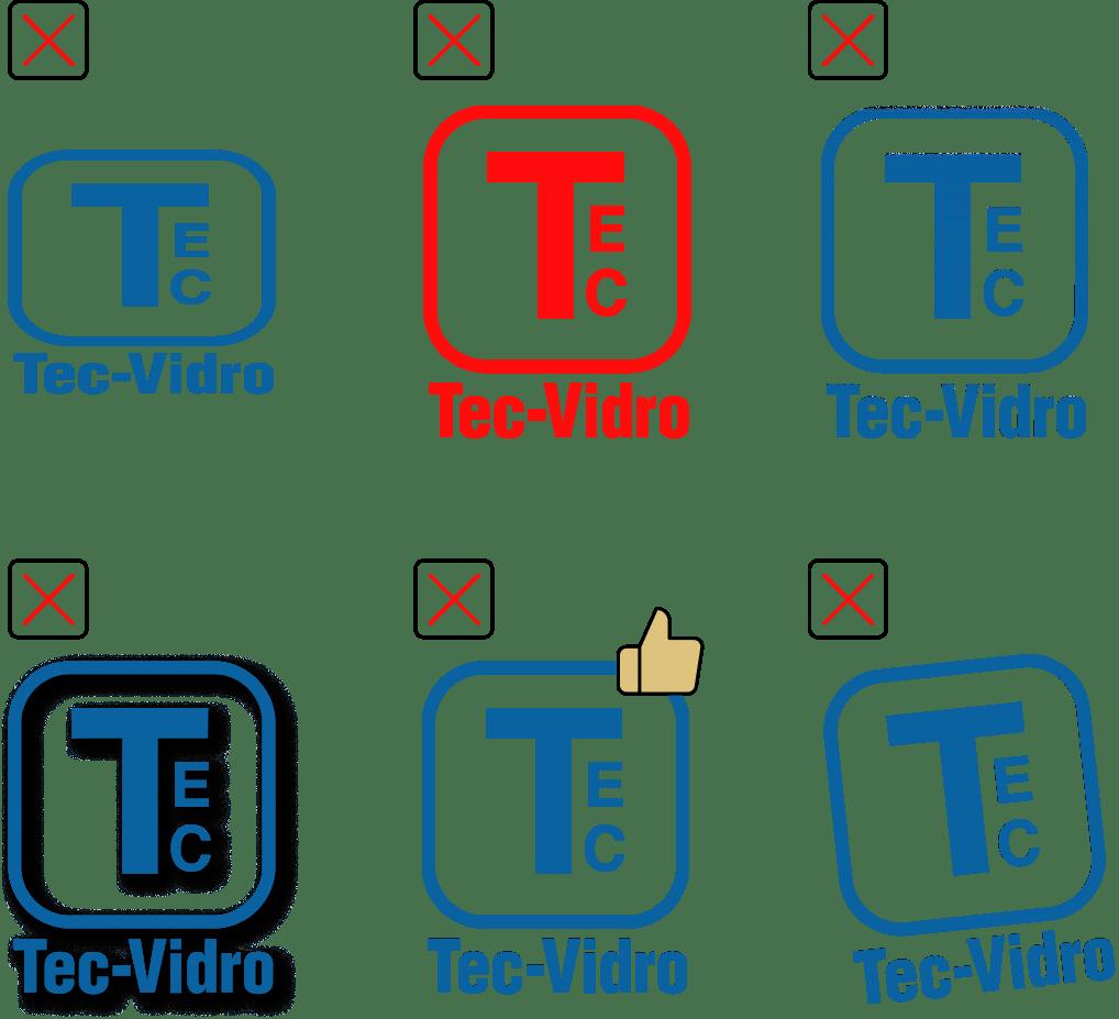 Usos incorretos Logo Tec-Vidro
